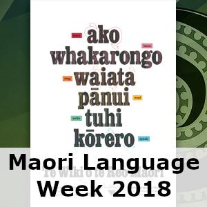 Maori Language Week 2018