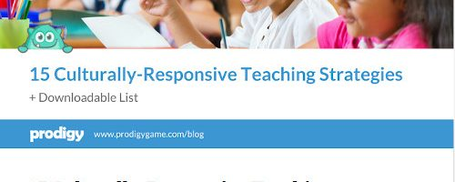 Professional Reading: Culturally Responsive Teaching Strategies